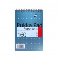 Pukka Mettalic Reporter's Pad, 80gsm, Ruled, Wirebound, 205mm X 140mm, 160 pages