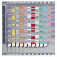 Nobo T-Card Professional Planner 12 columns 32 slots - 29200