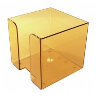 Omega Plastic Memo Cube Holder, Assorted Colors
