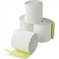 "Cash Register Paper Roll, 2 Ply, 76mm X 70mm X 1/2"" Pack of 10"