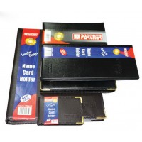 Partner Business Card Album, 72 Cards, Soft Cover, Black