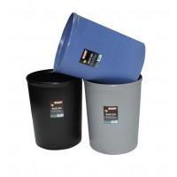 Partner Plastic Waste Bin Large Black