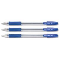 Pilot BPS-GP Ballpoint Pen Rubberised Grip, Fine 0.7mm, Blue, 12/Pack