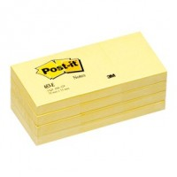 "Post-it® Notes 1.5""x2"", Canary Yellow, 100 Sh/Pad, [Pack of 12 Pads]. [Ref: 653]"