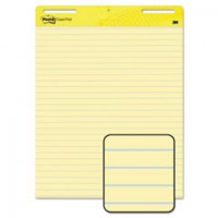 Post-it® Self-Stick Easel Pad [561], Yellow lined, 30 Sh/Pad [2/Pack]