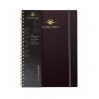 Pukka Concord Notebook A5 Wirebound 160 Pages Black