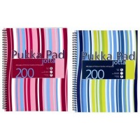 Pukka JP018 Jotta Notepad, 80gsm, Lined, Wirebound, A4, 200 pages