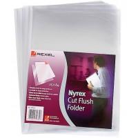 Rexel PFC/A4 12153 Nyrex Cut Flush Folder Embossed PK/25
