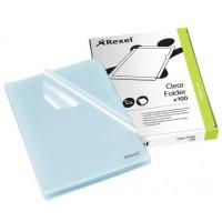 Rexel CKF/A4 12215 Cut Flush Folder Embossed PK/100