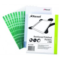Rexel CKP/A4 12265 Reinforced Polished Pockets A4 PK/100