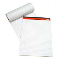 Sinarline Legal Pad, White, A5, Lined, 50 Sheets [Pack/10]