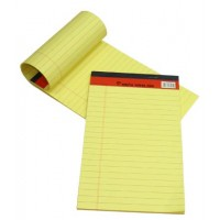 Sinarline Legal Pad, Yellow, A5, Lined, 50 Sheets [Pack/10]