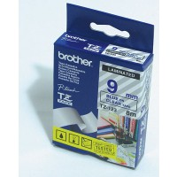 "Brother TZ-123 P-touch® Label Tape, 9mm, (3/8""), Blue on Clear"