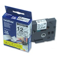"Brother TZ-131 P-touch® Label Tape, 12mm, (1/2""), Black on Clear"