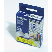 "Brother TZ-133 P-touch® Label Tape, 12mm, (1/2""), Blue on Clear"