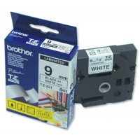 "Brother TZ-221 P-touch® Label Tape, 9mm, (3/8""), Black on White"