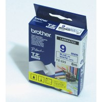 "Brother TZ-223 P-touch® Label Tape, 9mm, (3/8""), Blue on White"