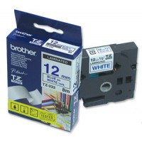 "Brother TZ-233 P-touch® Label Tape, 12mm, (1/2""), Blue on White"