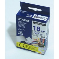 "Brother TZ-243 P-touch® Label Tape, 18mm, (3/4""), Blue on White"