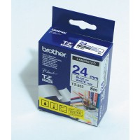 "Brother TZ-253 P-touch® Label Tape, 24mm, (1""), Blue on White"