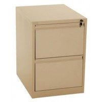 2-Drawer Metal Vertical Filing Cabinet Beige
