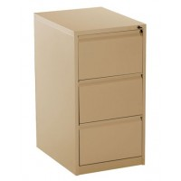 3-Drawer Metal Vertical Filing Cabinet Beige