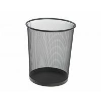 Metal Mesh Waste Bin, Round, Big, Black