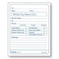 "Message Pad ""While You Were Out"", 40 Sheets"