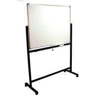 Double Sided Magnetic White Board, 90cmx120cm, With Movable Metal Stand
